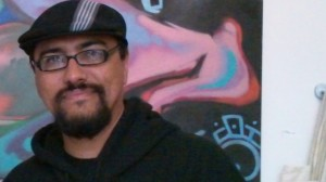 Man One, well known LA urban artist, owner Crewest Gallery, anti-drug black Sharpie battle host