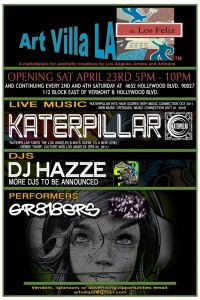 Music residency of Katerpillar at Art Villa LA to enhance new Los Feliz Art Mart